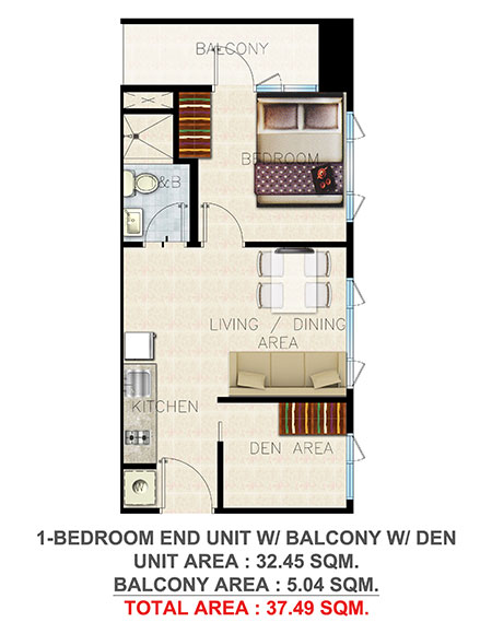 Awesome 237x300 · 1 Bedroom End Unit Balcony Den 37.49 SQM. ...