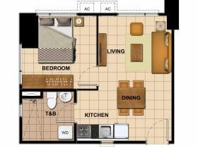 Tower 3 - 1 Bedroom