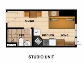 Tower 2-Studio Unit