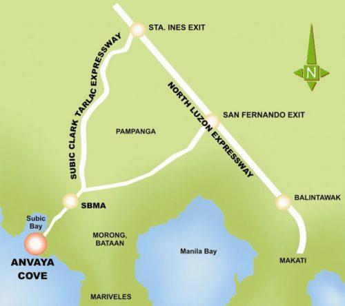 Anvaya Location Map