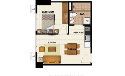 1 Bedroom  - 36.05 sq.m