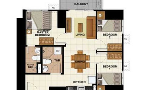 3 Bedroom - 57.26 sq.m