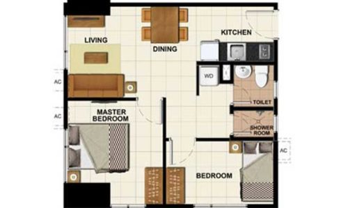 2 Bedroom - 47.45 sq.m