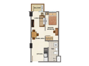1 Bedroom - 37 sq.m