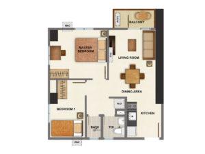 2 Bedroom - 57 sq.m